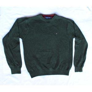 Tommy Hilfiger Green Crewneck Knit Sweater, Size L